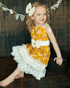 pillow case dress with lace detail like this idea