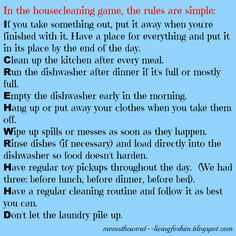 The Housecleaning Game---So simple!!