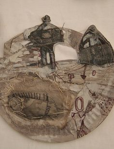 collage drawing on paper plate by me-jade