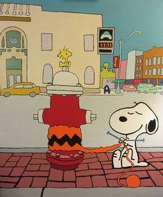 Snoopy Yarnbombing