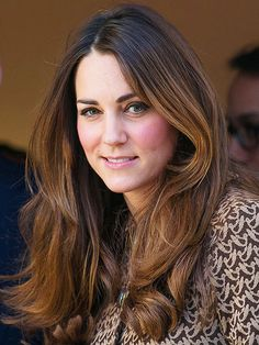 Duchess Kate's blowout can be imitated by blowing dry sections with a one-inch round brush: http://www.bhg.com/beauty-fashion/hair/favorite-celebrity-hairstyles/?socsrc=bhgpin073014katemiddleton&page=6