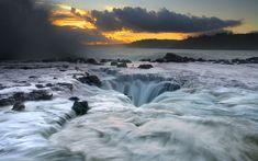 Maelstrom, a natural water drain in Kauai, Hawaii..
