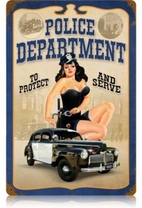 serve and protect pinup girl