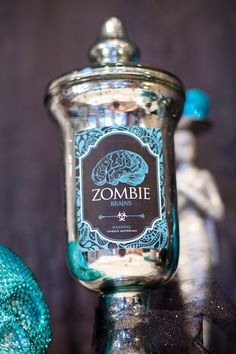 Joe loves zombies and I love Mercury glass .... it's a win-win for us.  via Hostess with the Mostess