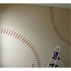 Baseball wall. Very cool!