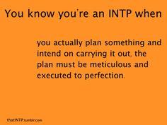 I know I'm an INTP