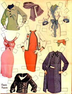 Connie Francis Paper Doll Clothes Page 1