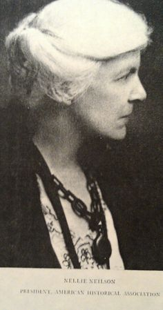 Former AHA President Nellie Neilson, 1943. You can read her presidential address, elivered before the American Historical Association at New York on December 29, 1943 here: (http://bit.ly/1x82Svl).