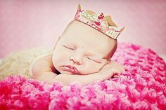 Chickarooz Chic Floral Fabric Crown.  -Andrea Fuller Photography