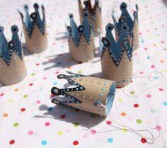 DIY TOYS - kroontjes gemaakt van toiletrollen - kroontjes maken met kinderen - DIY crafting kids
