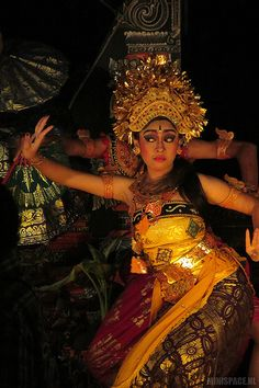 Balinese dancer in Sanur, Bali
