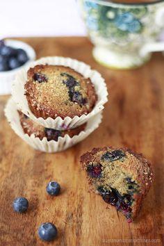 Healthy Banana Blueberry Muffins from @Marina Zlochin YummyMummyKitchen