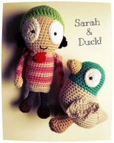 Sarah and Duck! Amigurumi Crochet Dolls. Pattern coming soon.