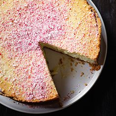 White Chocolate Peppermint Cheesecake | MyRecipes.com