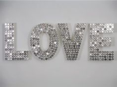 craft, spray, wood letters, button, penni, paint, silver coins, diy wall decor, wooden letters