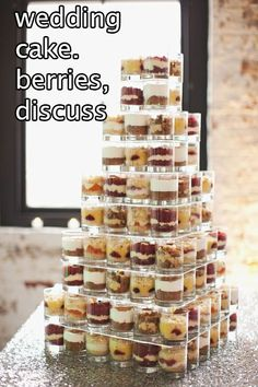 cup, idea, tower, wedding cakes, individual desserts, mini desert, layered desserts, mini desserts, dessert bars