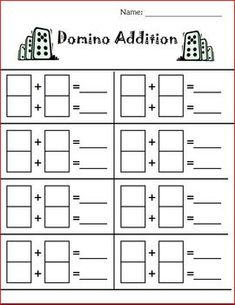 Using these worksheets students will use dominos or dice to help them practice their addition and subtraction skills.  Add these worksheets to your...