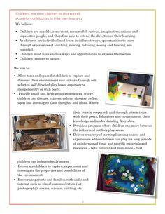 "Philosophy Documentation from Kallista Kindergarten ("",)"