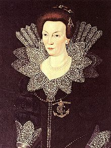 Portrait of Christina of Holstein-Gottorp (1573 - 1625). Christina was Queen of Sweden from 1604 until 1611, when her husband died. She was the second wife of Charles IX, and they had three children. She later prevented her son from marrying his mistress, Ebba Brahe.
