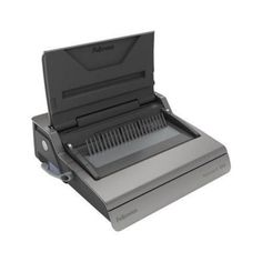 """The Fellowes Galaxy E Electric Plastic Comb Binding Machine is designed for the frequent binding needs of a large office. This machine is designed to help combine high performance with the convenience of electric punching. This heavy duty machine can easily punch up to 25 sheets of 20lb bond paper at a time and can bind up to 500 sheets using a 2"""" comb. The Galaxy E utilizes a vertical document loading slot that helps to ensure accurate punching alignment."""
