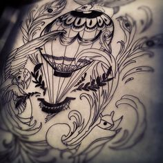 Great tattoo. Very intricate and well-drawn. #TattooTuesday #hotairballoon