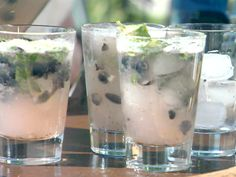 Blueberry Ginger Mojito Pitchers from CookingChannelTV.com--Drinks-pinned by #conceptcandieinteiors #drinks