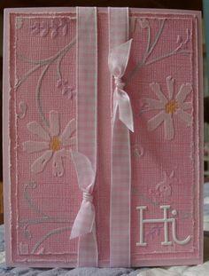 Stylized Flowers embossing folder
