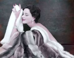vintag fashion, furs, emba, 1954 photo, ann saintmari