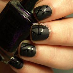 Matte vs Glossy Stripes #nails