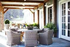 barn patio, exposed beams, outdoor living spaces, outdoor space, covered patios