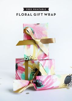 Free Printable Floral Gift Wrap | Oh Happy Day!