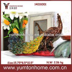 Resin Peacock Home Decor Figurine Photo photo 1/4