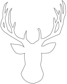 deer head template with antlers | Instead I found a deer silhouette image online that was free for ...