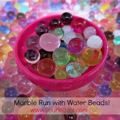 Marble Run with Water Beads: Your Kids OT