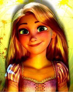 Tangled's Rapunzel via www.Facebook.com/GleamofDreams