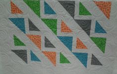 Quilted4You: Cute baby quilt by Loralee #quilting #longarm