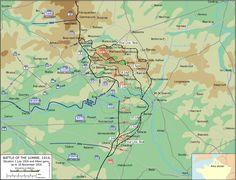 Mapa de la Batalla del Somme (1916)