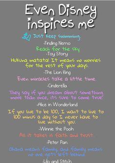 Disney inspires...