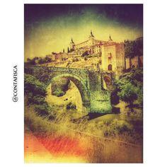 puent de, build sign, urban rooftop, el alcázar, de alcántara, street build, architectur build