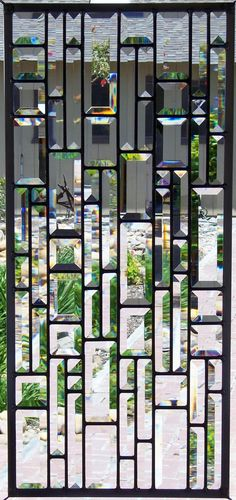 Large All Beveled Stained Glass Window