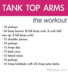 Top arm workout