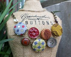 Buttons made from old neckties