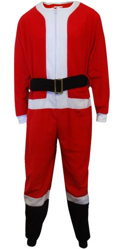 WebUndies.com Santa Suit Fleece Men's Onesie Pajama