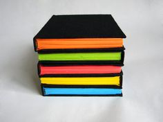 Little black book with neon pages