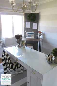 Home Office/craft room makeover via Chic California
