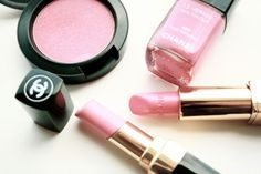 pretty pink makeup #chanel