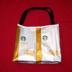 Recycled Starbucks coffee bags