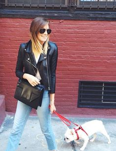 What your 10 favorite fashion bloggers wear while walking their dogs