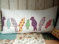 Fabric Bird Pillow