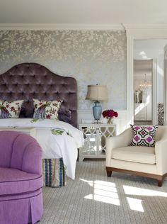 Master bedroom ideas on pinterest hollywood regency new for Cream and purple bedroom ideas